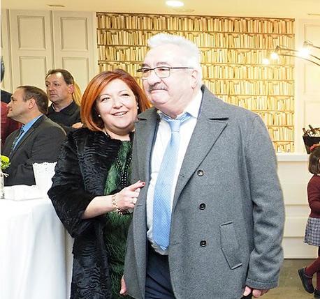 David Corral y su mujer.