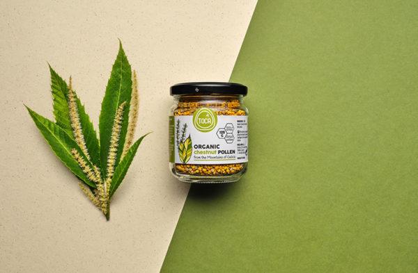 polen organico de castaño